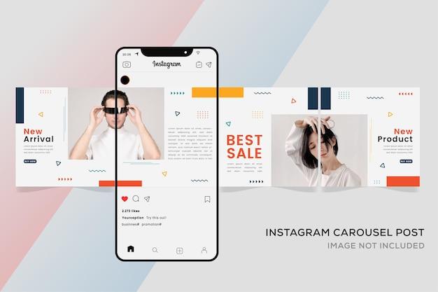 Szablon karuzeli dla mediów społecznościowych instagram premium