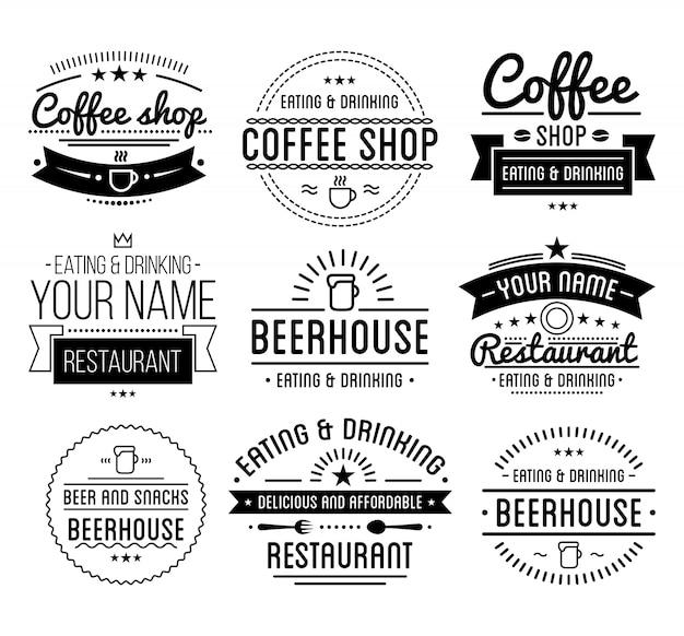 Szablon kawiarni.