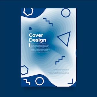 Szablon klasyczny niebieski plakat
