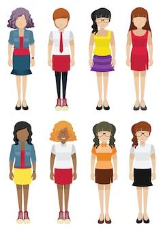 Szablon kobiety bez twarzy