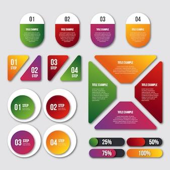 Szablon kolekcji element gradientu infographic