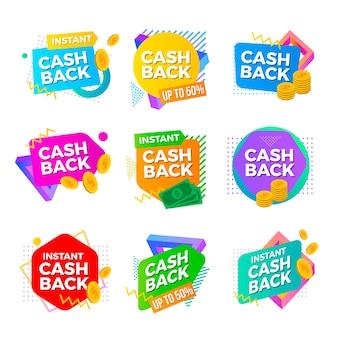 Szablon kolekcji etykiet cashback