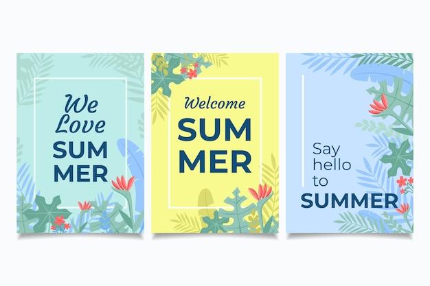 Szablon kolekcji karty lato