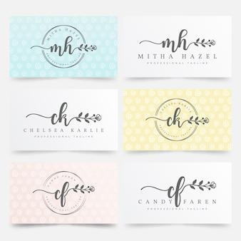 Szablon kolekcji kobiecych logo