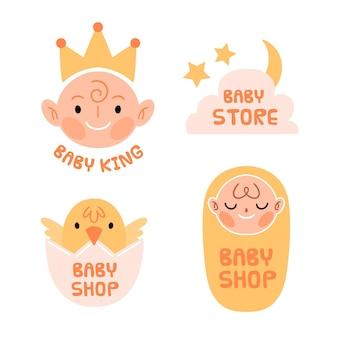 Szablon kolekcji logo dziecka