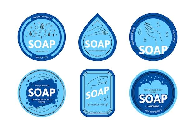 Szablon kolekcji logo mydła
