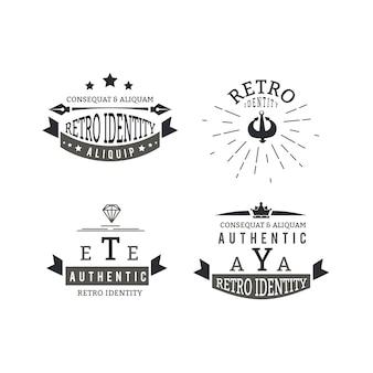 Szablon kolekcji logo retro