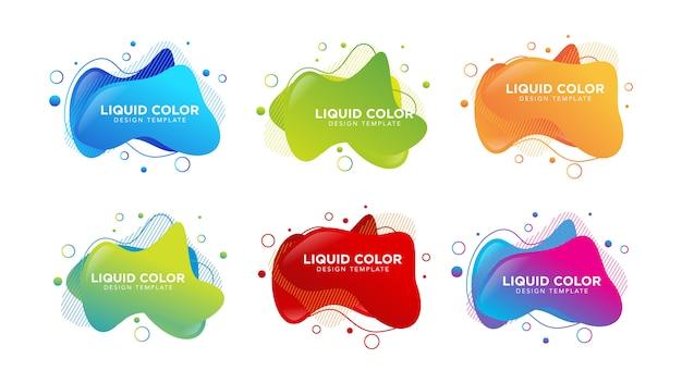 Szablon kolor gradientu płynnej wody płyn tekstura