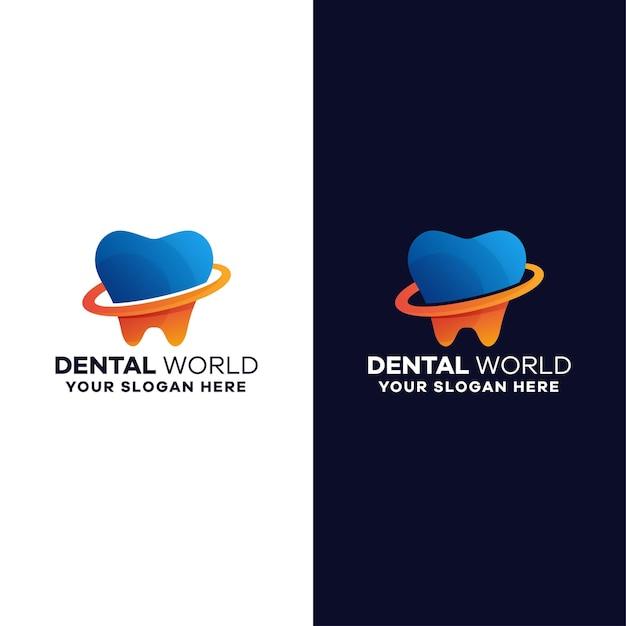 Szablon kolorowe logo gradientu dentystycznego