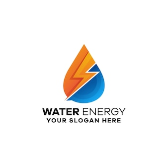 Szablon kolorowe logo gradientu energii wodnej