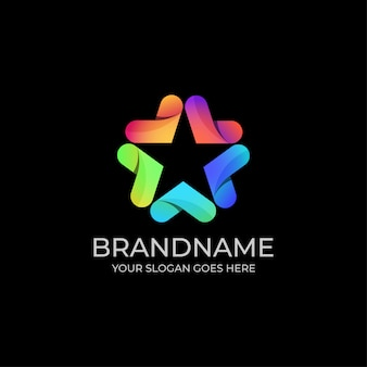 Szablon kolorowe logo gwiazda