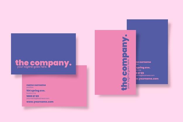 Szablon kolorowe minimalne wizytówki