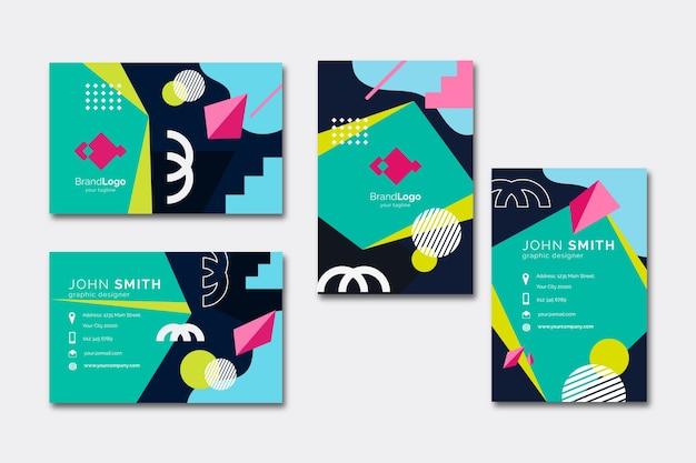 Szablon kolorowe wizytówki