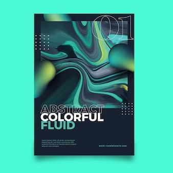 Szablon kolorowy efekt artystyczny plakat