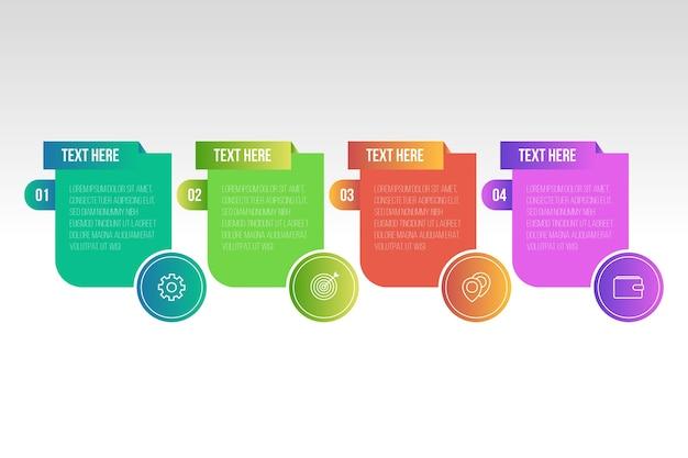 Szablon kolorowy gradientu infographic