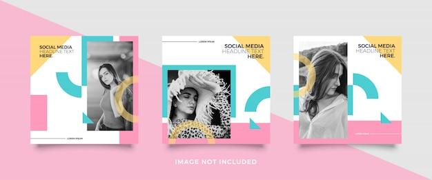 Szablon kolorowy kolorowy mediów społecznościowych