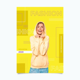 Szablon kolorowy moda plakat
