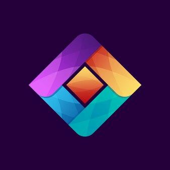 Szablon kolorowy streszczenie logo