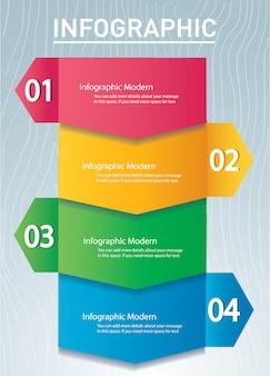 Szablon koncepcja infographic strzałka z 4 opcje