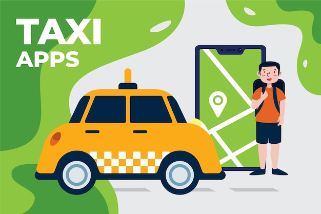 Szablon koncepcji aplikacji usługi taxi