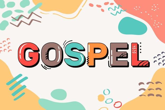 Szablon koncepcji słowa ewangelii