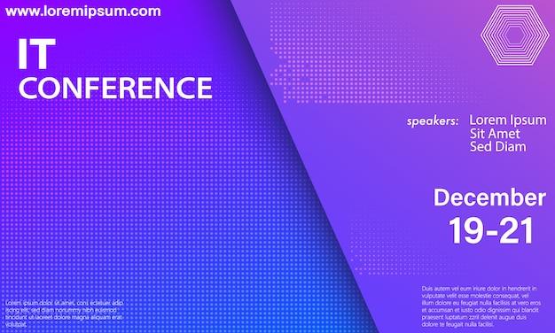 Szablon konferencji. konwencja naukowa.