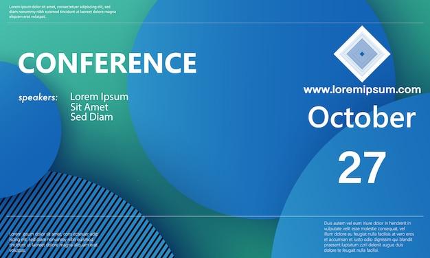 Szablon konferencji. zaplecze biznesowe.