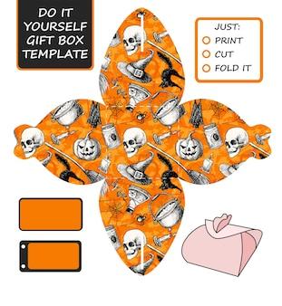 Szablon kostki wycięte na halloween