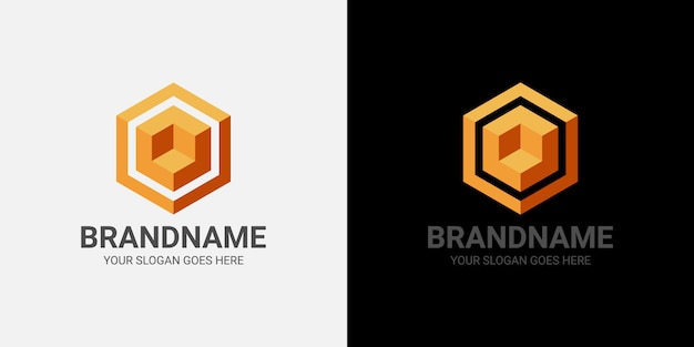 Szablon kostki z logo 3d