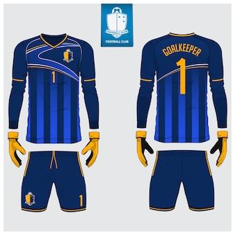 Szablon koszulki bramkarza lub szablonu piłkarskiego