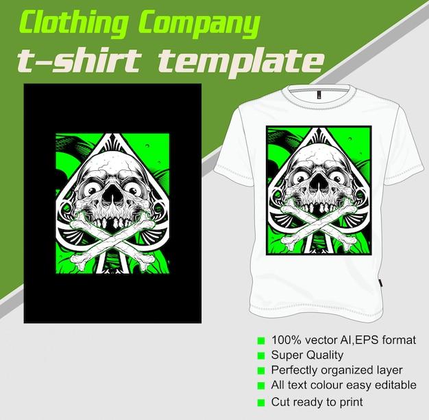 Szablon koszulki, czaszka