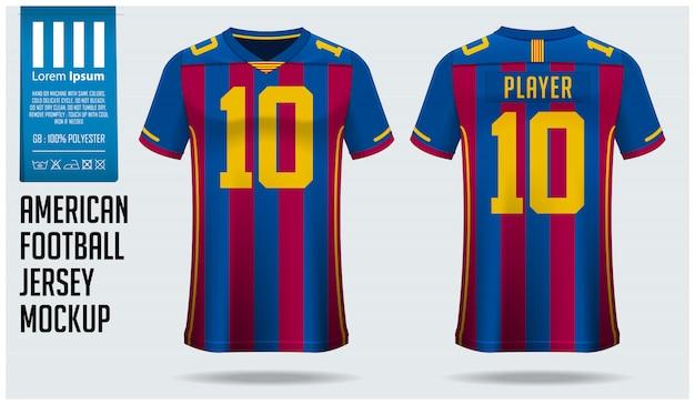 Szablon koszulki futbolu amerykańskiego lub zestawu piłkarskiego