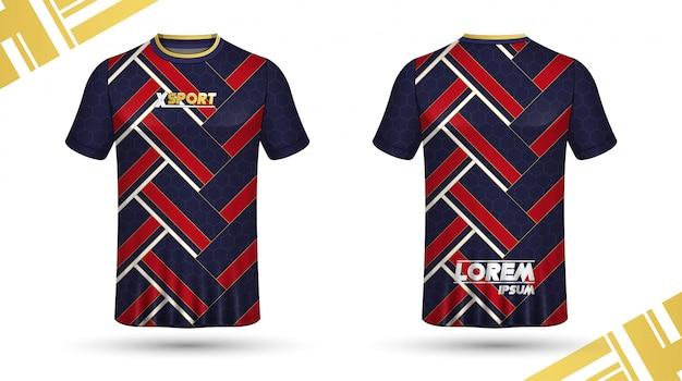 Szablon koszulki piłkarskie