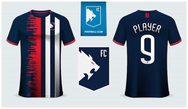 Szablon koszulki piłkarskiej lub zestawu piłkarskiego
