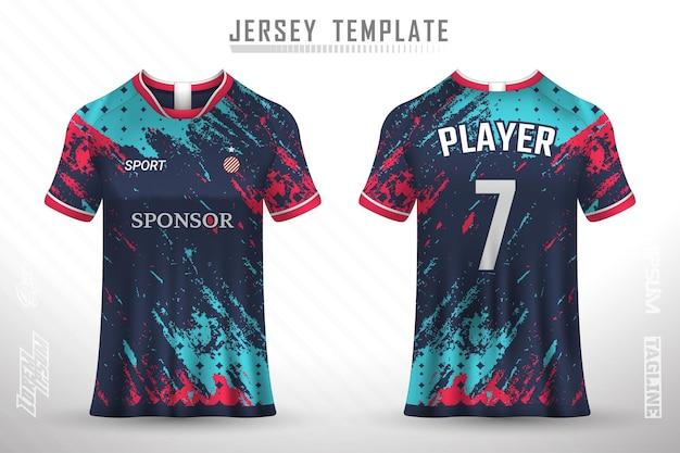 Szablon koszulki piłkarskiej premium z abstrakcyjną teksturą