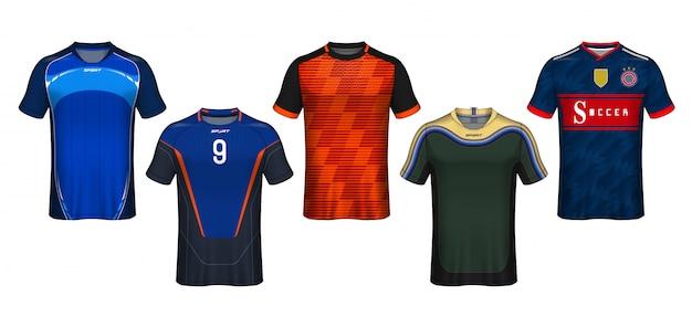 Szablon koszulki piłkarskiej. projekt koszulki sportowe.