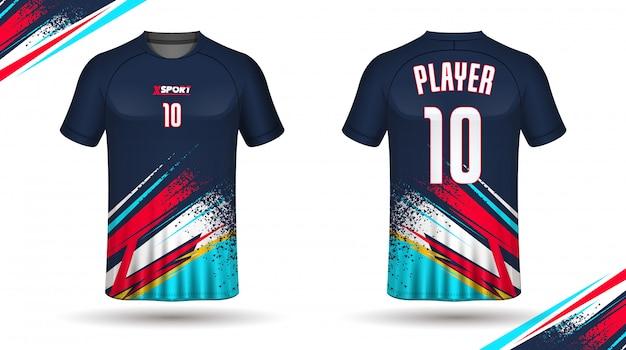 Szablon koszulki piłkarskiej