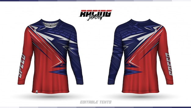 Szablon koszulki, projekt koszulki wyścigowej, koszulka piłkarska