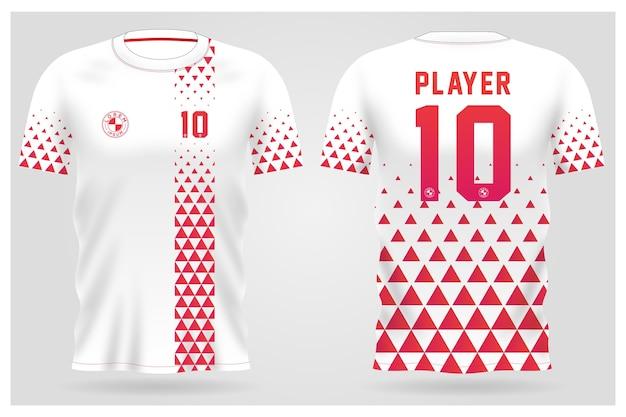 Szablon koszulki sportowej do strojów drużynowych i projektu koszulki piłkarskiej