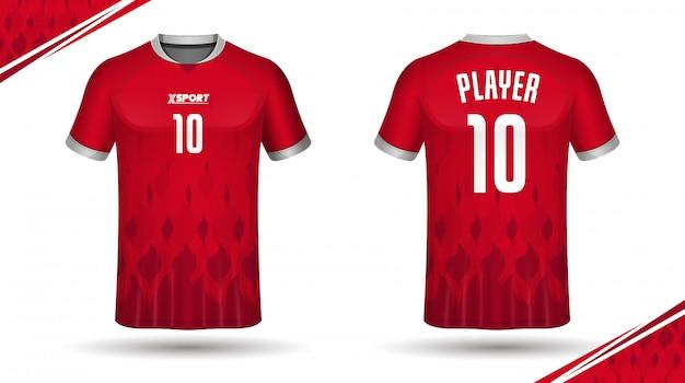 Szablon koszulki sportowej koszulki sportowej
