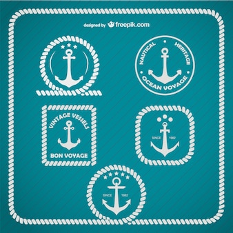 Szablon kotwica logo morskich