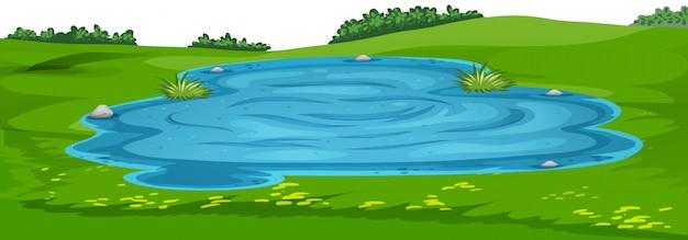 Szablon krajobraz sceny przyrody