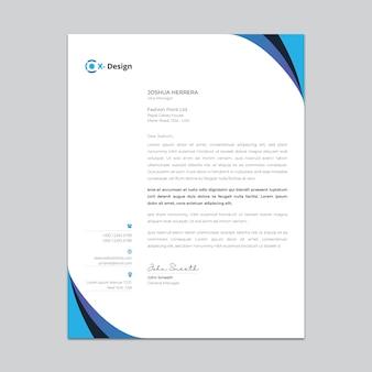 Szablon kreatywny papier firmowy