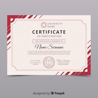 Szablon kreatywnych rocznika certyfikatu