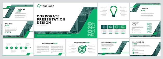 Szablon kreatywnych slajdów firmy