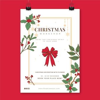 Szablon kreatywnych świątecznych plakatów