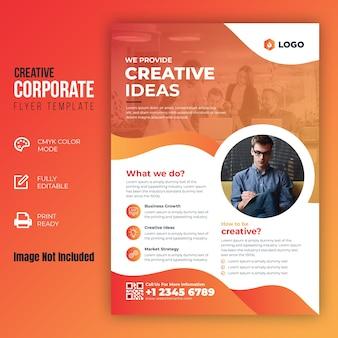 Szablon kreatywnych ulotek korporacyjnych