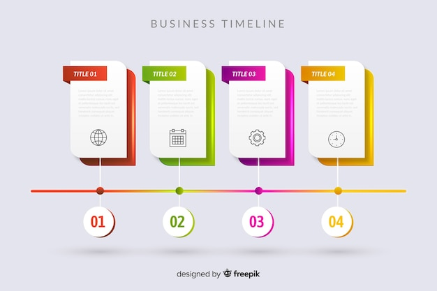 Szablon kroki infografikę osi czasu