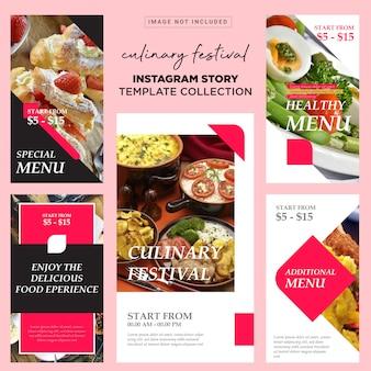 Szablon kulinarnych opowieści insta