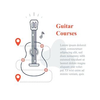 Szablon kursów na gitarze akustycznej